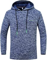 Moginp Mens Hoodie Fashion Long Sleeve Outdoor Sports Quick Drying Pullover Large Size Hooded Sweatshirt Top Tee Outwear...
