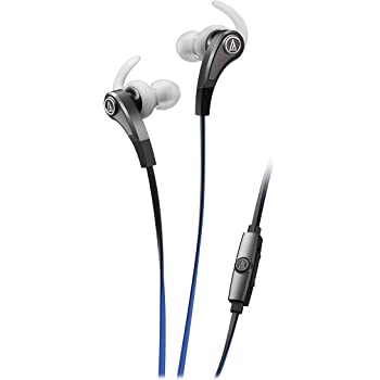 Audio-Technica SonicFuel ATHCKX9ISSV In-Ear Headphones with Mic (Silver)