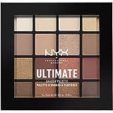 NYX Professional Makeup Paleta de sombra de ojos Ultimate Shadow Palette, Pigmentos compactos, 16 sombras, Acabados mate, sat