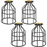 Kohree Lampe Suspension Lminaire Rtro Industriel Cage Métal Noir Pour Eclairage Salon Salle A Manger Cuisine Chambre Sous Sol