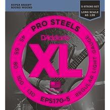 D'Addario EPS170-5 - Juego de cuerdas para bajo eléctrico de acero, .045 - .130