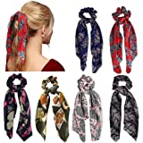 6 Pz Capelli Scrunchies Satin Silk Elastic Hair Bands Ponytail Holder Legami scrunchy Accessori per capelli vintage per le Do