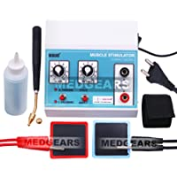 MEDGEARS Muscle Stimulator Machine for Physiotherapy 2 Channel Mini MS 2 Channel Electric Muscle Stimulator Muscle…