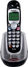 Sonics SS-717CL Cordless Landline Phone (Black)