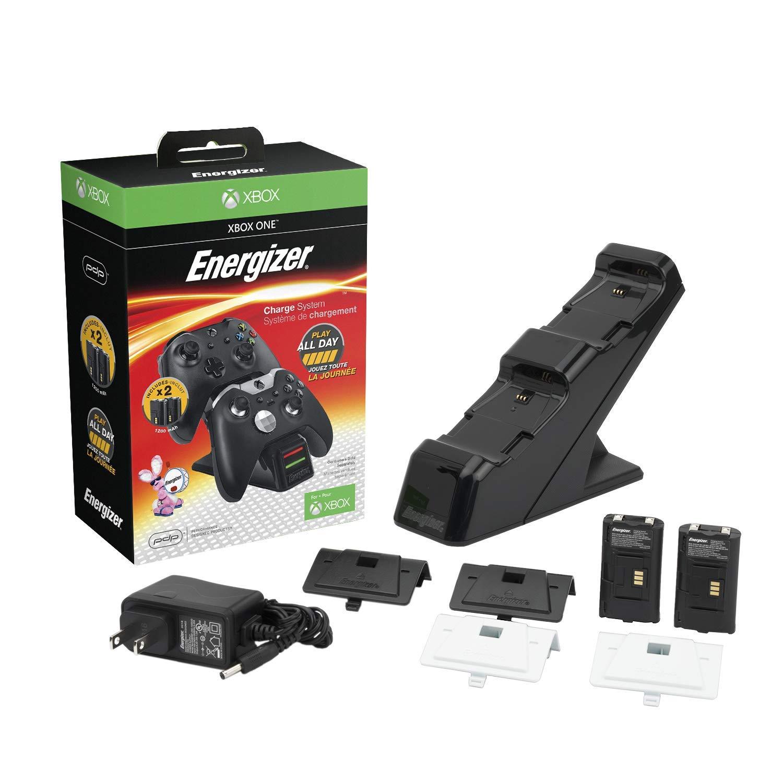 Energizer – Chargeur de batterie xbox one + 2 batteries incluses – Noir