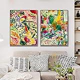 Henri Matisse Couleur Abstraite Classique Reproduction Impression sur Toile Peinture Art Mur Photos pour Salon Hôtel Porche D