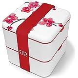 monbento - MB Square bento box - Lunch box hermétique 2 étages - Boîte repas idéale pour le travail/école - sans BPA - durabl