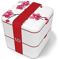 monbento - MB Square bento box - Lunch box hermétique 2 étages - Boîte repas idéale pour le travail/école - sans BPA…