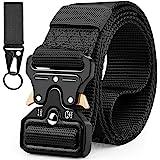 Military Belt, Men Tactical Belt Adjustable Nylon Belt with Quick Release Metal Buckle Ideal for Equipment Belt, Daily Belt,