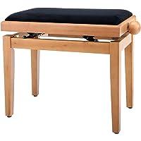 Classic Cantabile Pianobank Kirsche-matt (Höhenverstellbar von 47-56cm, Spindelmechanik, Sitzfläche 55 x 32cm, schwarzer…