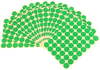 Imported 720Pcs 25mm Dots Sticker Round Circle Blank Labels Self Adhesive- Green