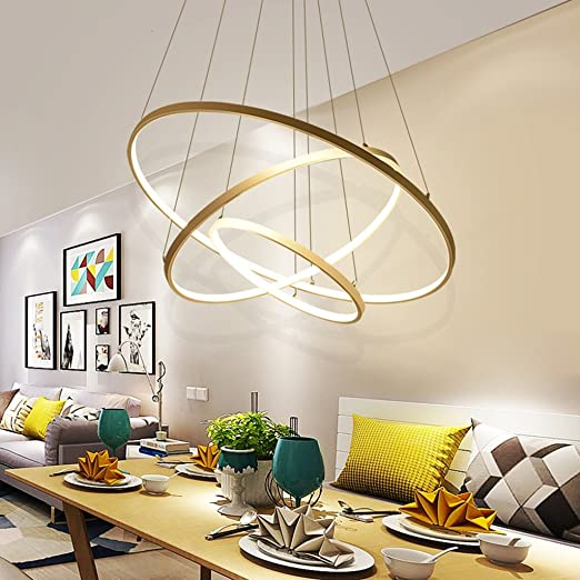 Nordic restaurant chandelier post modern chandelier led creative nordic restaurant chandelier post modern chandelier led creative personality ring light simple modern living room lighting simple and stylish color aloadofball Image collections