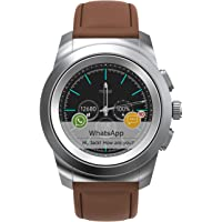 Noise NoiseFit Fusion Hybrid Smart Watch with Cloud Based Watch Faces, 44mm dial Size with Leather Strap (Vintage Brown…