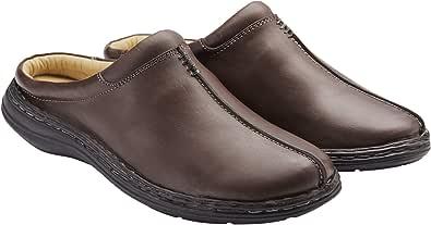 Samuel Windsor Men's Handmade Leather Slipper Mule, Slip on Indoor, Outdoor Footwear