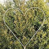 EQT-TEC Pressione decorazione del giardino di rose arco Rose a forma di cuore rosa viticcio da giardino decorazione