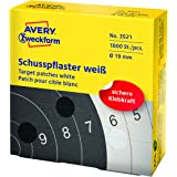 AVERY Zweckform 3521 Schusspflaster (Ø 19 mm, vorgedruckt) 1 Rolle/1000 Etiketten weiß