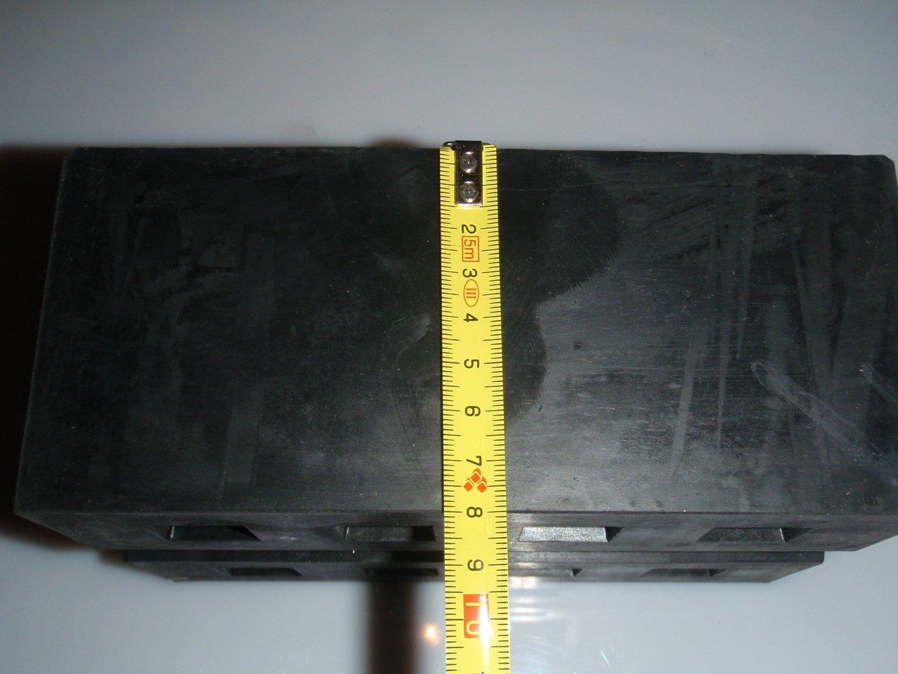 Gummiauflage Gummiklotz Gummiblock 02 für Hebebühnen 180x120x80 mm Satz (4 STK)