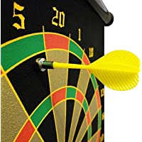 Famous Quality 17 Inch Double Sided Wall Hanging Roll-up Magnetic Dart Board with 6 Safety Darts Needles Set