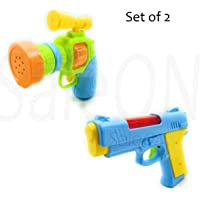 SaleON® Light and Music Gun Toy Plastic Realistic Sound and Light Effect (Set of 2)-1354