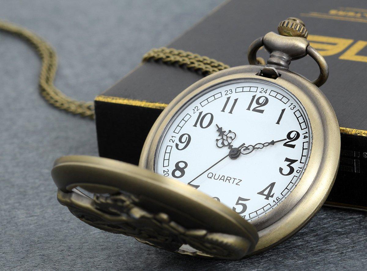 Lancardo-Herren-Vintage-Motorrad-Taschenuhr-Bronze-Analog-Quarz-Hohe-Openwork-Uhr-mit-Halskette-Kette-Umhngeuhr-Geschenk