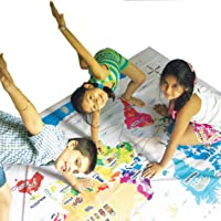 Giant World Map for Kids - Hop Around The World Twister Game, STEM Learning Educational Toy for 3-5, 6-12 Year Old Boys…