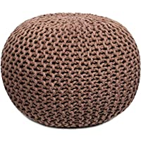 A R Creations Pouf for Living Room Sitting Round Ottoman Bean Filled Stool for Foot Rest Home Furniture Rope Twisted…