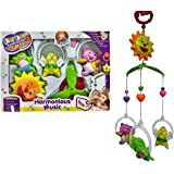 Vibgyor Vibes™ 5 PCS Lovely Colourful Musical Hanging Rattle Toys With Hanging Cartoons For Toddlers/Babies/infants…