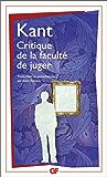 Critique de la faculté de juger (GF t. 1088)