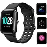 HolyHigh 205L Smart Watch Waterproof Fitness Tracker Band 1.3' Touch Screen Fitness Watch Heart Rate Sleep Monitor Step Calorie Counter Call SMS Alert Activity Tracker for Men Women Ladies