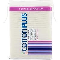 Cotton Plus Super Maxi 50 pz. - LINEA BEAUTY | DISCHETTI PRETAGLIATI 100% PURO COTONE | Dischetti struccanti XL per la…