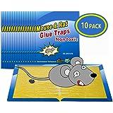 """Piège à Souris Pièges à Rats, 10 Plaques Collantes Souris, Plaques de glu Anti Souris Anti Rat - Grande Taille 8""""x12"""""""