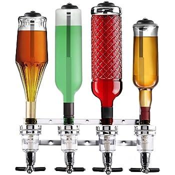 Bakaji beertender mural 4 bouteilles distributeur distributeur doseur liqueurs distributeur - Porte bouteille doseur bar ...
