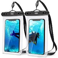YOSH Custodia Impermeabile Smartphone Borsa - 2 Pezzi 7 Pollici IPX8 Porta Cellulare Subacquea Universale con Cordino…