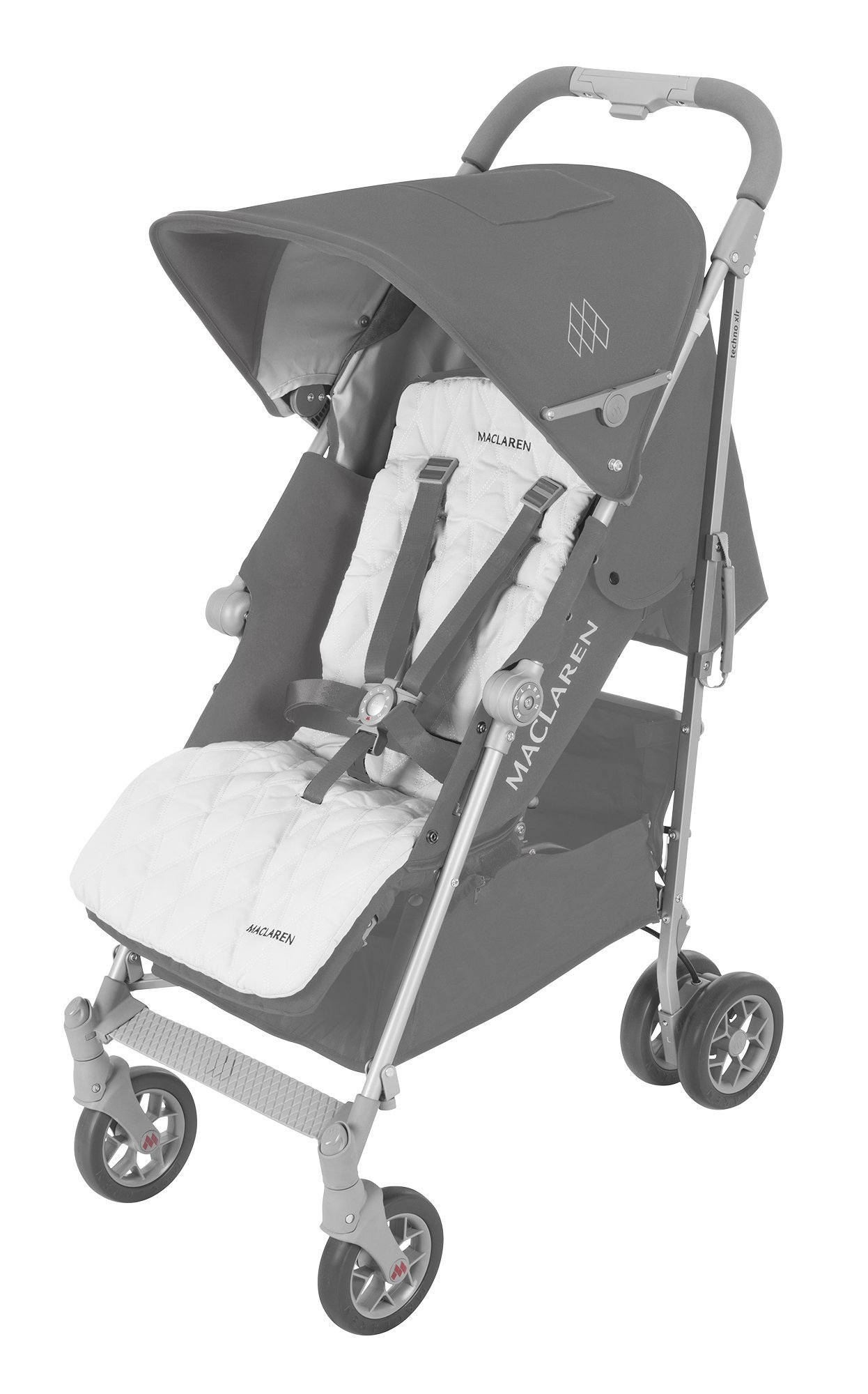 Maclaren Techno XLR arc Travel System Stroller Maclaren Basic weight of 6.7kg/14.8lb; ideal for new-borns and children up to 25kg/55lb (usa 65lb) Maclaren is the only brand to offer a sovereign lifetime warranty Extendable upf 50+ sun canopy and built-in sun visor 1