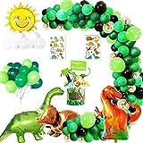Dinosauro della giungla Decorazioni di Compleanno Party ragazzo, kit di forniture per feste per bambini con tre palloncini di