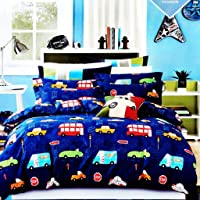 Magnetic Shadow Glace Cotton 140 TC Bedsheet (King_Blue)