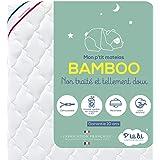 P'tit Lit - Matelas Bébé Bamboo - 60x120 cm - Viscose Douce et Absorbante - Sans traitement chimique - Déhoussable - Oeko Tex