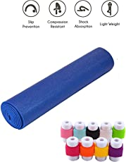Easypro Combo of Fitness Non Slip Yoga Mat 6 mm For Men & Women (Blue Color) with Cable protector