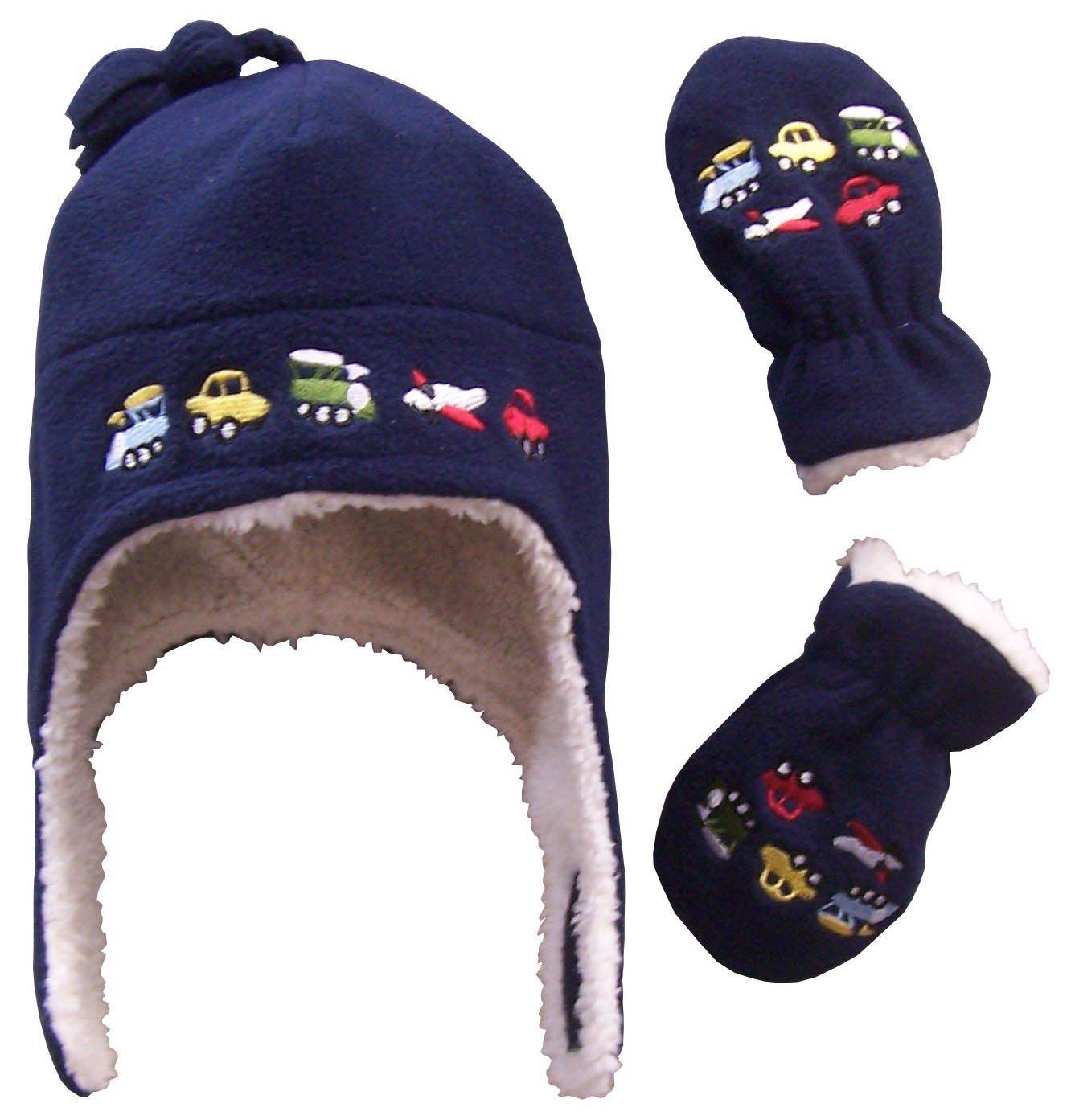 N'Ice Caps – Juego de manoplas para niños y bebés con forro polar bordado