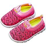 DEBAIJIA Zapatos para Niños 1-4T Bebés Caminan Zapatillas Entrenador Tocino Suela Suave Malla Antideslizante PVC Material Tra