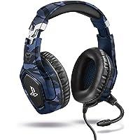 Trust Gaming Casque Gamer PS4 et PS5 avec Licence officielle pour PlayStation GXT 488 Forze-B - avec Microphone Flexible…