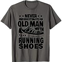 Uomo Mai sottovalutare un vecchio con le scarpe da corsa Papà Maglietta