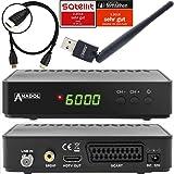 Anadol HD 200 Plus HDMI-Kabel HDTV Digitaler Satelliten-Receiver inkl. WLAN Stick (HDTV, DVB-S2, HDMI, SCART, USB 2.0, Full HD 1080p) [vorprogrammiert] - Schwarz