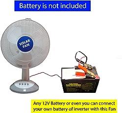 Belifal Solar Fan DC 12Vvolt 15Watt Direct Fan Solar Panel Not Included Works On Any 12V Battery