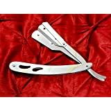 Barber Exchangeable Blades Stainless Steel Shaving Razor Straight Cut Throat Razor Straight Edge Barber Saloon Razor For Clos