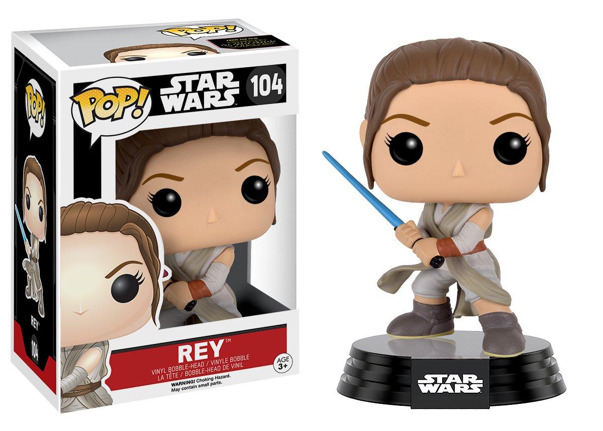 Funko Pop Rey con sable (Star Wars 104) Funko Pop Star Wars