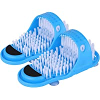 Bulary 2 Pieces Bath Foot Massagers Slippers Bath Slippers with Foot Cleaner Brush Shower Sandal Foot Washer for Shower…