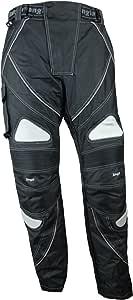 Ledershop-online Bangla 1547 Motorradhose Tourenhose Bikerhose Herren schwarz grau