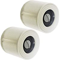 SPARES2GO Premium Filter Cartridges for Karcher WD2 WD3 WD3P Wet & Dry Vacuum Cleaner (Pack of 2)