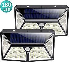 180 LED Luz Solar Exterior, Kilponen [Versión Mejorada 2500mAh] Foco Solar Exterior con Sensor de Movimiento Luces...